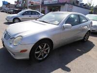 2003 Mercedes Benz C230 Auto Leather Silver Coupe Only100,000km