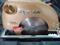 Circular Power Saw (Skillsaw) + 110v 12m Extension Lead + Spare Blade