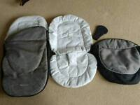 Graco buggy footmuff and liner