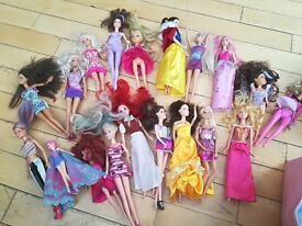 Barbies with outfits and shoes