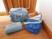Picnic bag, foldable picnic blanket and cool bag. Used once.