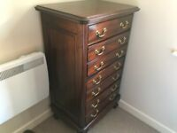 Mahogany Chest of Drawers and Bedside Table
