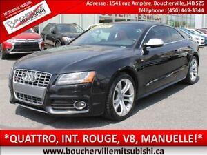 2012 Audi S5 *INTERIEUR ROUGE, MANUELLE, TOIT*