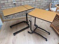 small tables - height adjustable and tilt adjustable