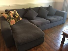 John Lewis Corner Sofa with Chaise End