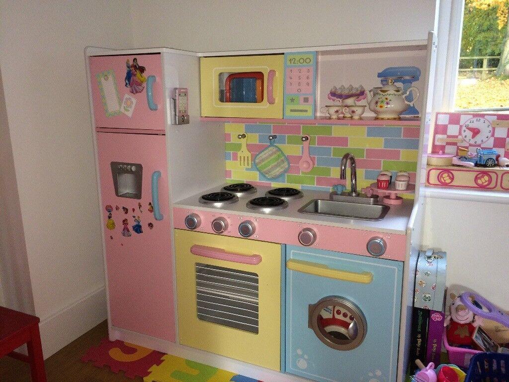 Kidkraft Large Pastel Pretend Play Kitchen Toy For Children