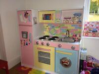KidKraft Large Pastel Pretend Play Kitchen For children
