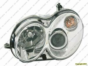 Head Lamp Driver Side Without Curve Lighting Without Bulb/Module Clk Models High Quality Mercedes C-Class 2006-2007