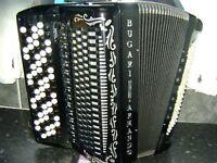 bugari champton class button accordion double cassotto