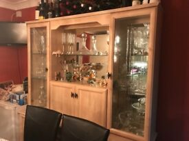 Display and storage drinks cabinet - kitchen/dining furniture