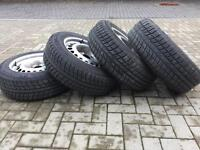 "4 x Mercedes 16"" steel wheels with nearly new winter Michelin tyres"