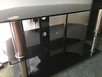 Black glass TV unit/stand great condition