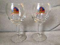 Set of 2 Leffe Beer Glasses