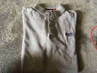 Superdry men's polo shirt short sleeves collar grey Size L Used £7