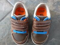 Clarks Brown Leather Shoes, Size 4 ½ F