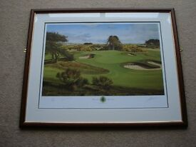 Graeme W Baxter Limited Edition Print Carnoustie 1999, signed by Paul Lawrie Open Champion