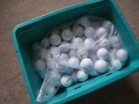 LOT OF 100 VARIOUS BRAND WHITE GOLF BALLS. SUITABLE FOR PLAY or PRACTISE.