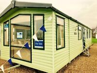 spacious & stylish caravan for sale at sandy bay Nr Creswell Amble Whitley Bay Crimdon Haven Berwick
