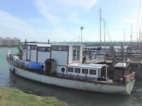 beautiful 52ft converted houseboat in shoreham by sea for sale