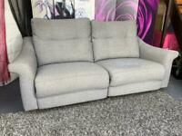 G Plan Grey Fabric 2 Seater Electric Recliner Sofa