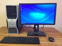 "Dell T5400 Workstation Xeon E5410 Quad Core - 12GB Ram - 500GB - GeForce - 22"" Monitor"