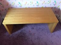 Solid coffee table in oak £20