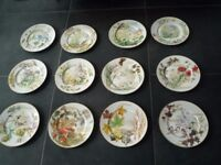 Set of 12 Country Diary of An Edwardian Lady Plates