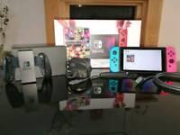 Nintendo switch with Mario Kart 8 Deluxe