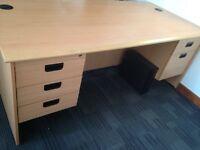 Office Desk with 2 pedestals, £60