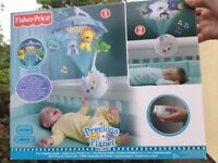 Fisher price Precious planet remote control cot mobile projector ,music ,heart beat