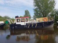 35ft × 10ft dutch barge narrowboat