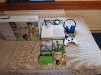 Xbox one with games controller and headset