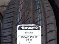 matching pair BRAND NEW 255 x 40 x 17 BARUMS £100 SUP & FITD OPEN 7 DAYS (MOST SIZES AVAILABLE)