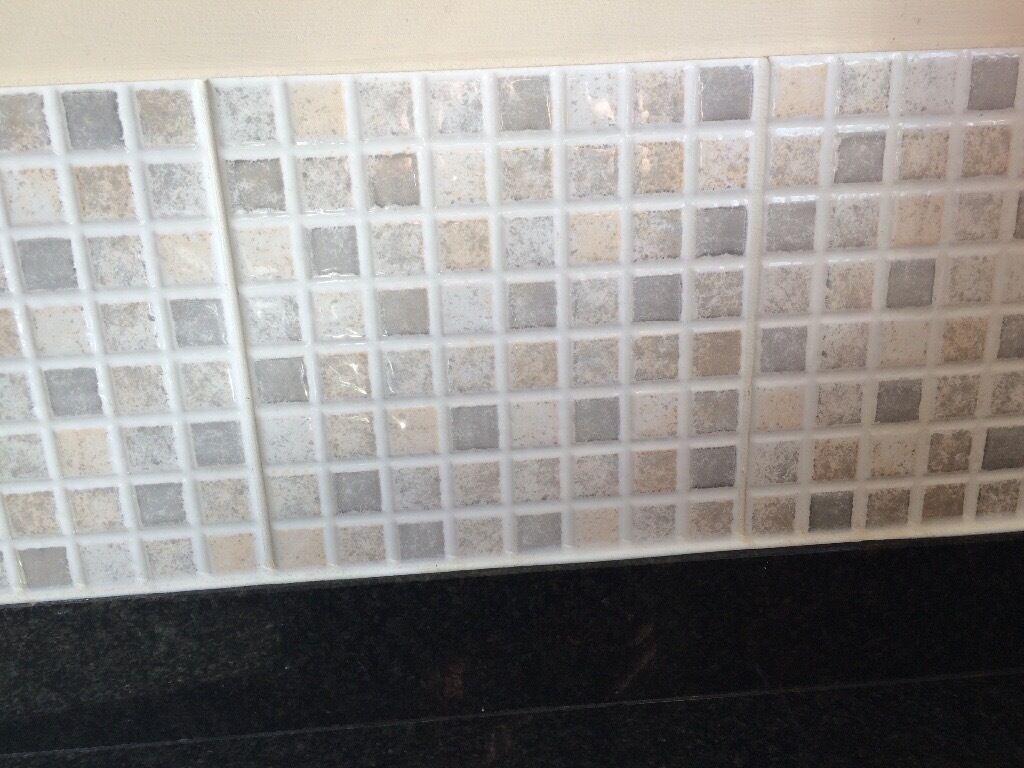 Large mosaic ceramic tiles