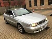 2001 VOLVO C70 2.0 T CONVERTIBLE PETROL AUTOMATIC SILVER LONG MOT 1 OWNER GREAT DRIVE NOT 93 ASTRA