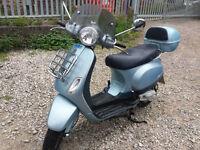 Piaggio Vespa LX 50 cc, 70 conversion, Blue, 2 stroke, Delivery, Scooter, 2006