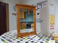 Unused and boxed Miller Antique Pine Mirror Door Vanity Cabinet