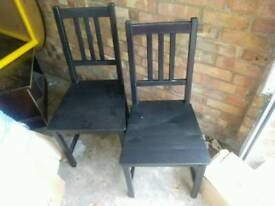 2 Black Chairs can deliver
