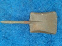 Small Vintage Shovel with Wooden Handle
