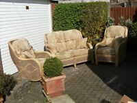 Quality wicker suite for a conservatory. First to see will buy!