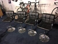 4 Black Stools/Chairs