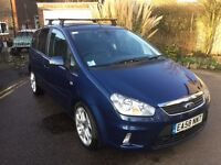 Ford C-Max Titanium Metallic Blue, Black Leather Interior, MOT, Loads of Comfort & Safety Equipment
