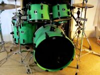Green Sonor Maple Force 3007 with Black Hardware.