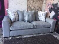 New Croft 3 Seater Fabric Sofa In Grey Delivery Available