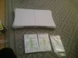 Wii fitness board and disc