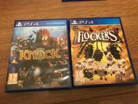 Flockers and knack for ps4