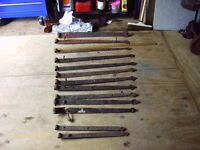 Forged Iron door/gate hinges rural rustic salvage collectable