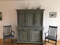Antique solid oak cupboard