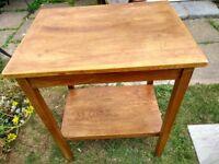 Vintage natural wood side table
