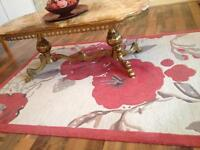 Beautiful cream and red thick rug for sale